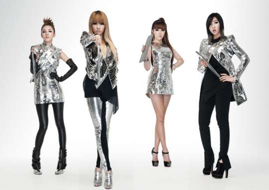 Photos 2ne1 In Their Silver Futuristic Outfits For Intel